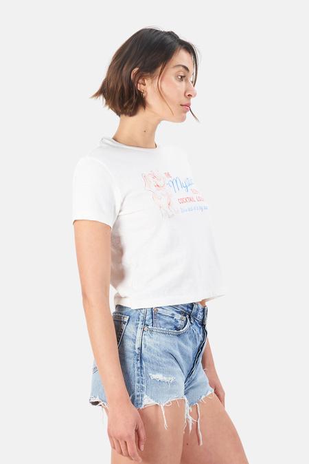 Re/Done Mystic Elephant Boxy T-Shirt - Vintage White