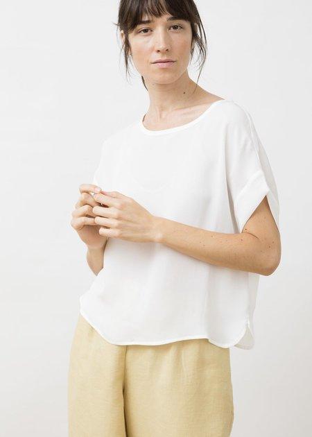 Jungle Folk Emily Peace Silk Top - White
