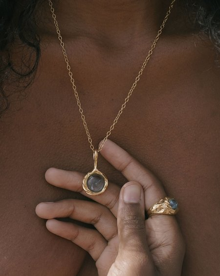Pamela Love Braided Stone Ring - 14k yellow gold plate