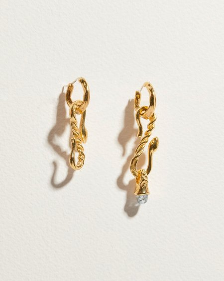 Pamela Love Serpent Hook Earrings - Gold