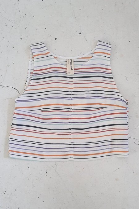 Eve Gravel Myrtille Top - Stripes