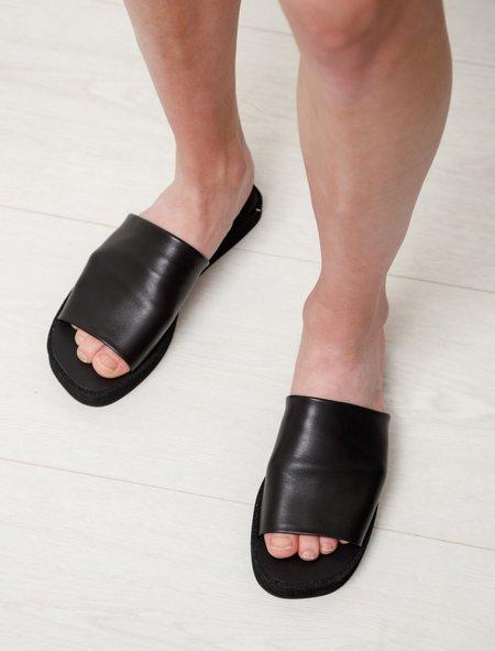 Robert Clergerie Gao Flat Micro Sandal - Black