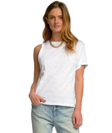 Sen Robin Asymmetrical Pullover - White