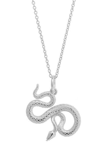 Talon Snake Pendant Necklace - Sterling Silver