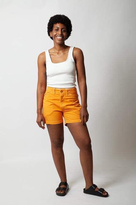 Gravel & Gold Painter Shorts - Creamsicle