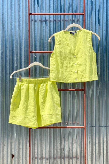 Ilana Kohn Audrey Crop Shirt - Key Lime