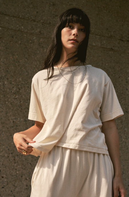 Wol Hide Easy Boxy Tee - Natural
