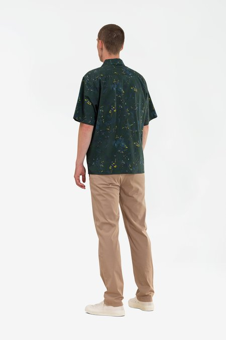 Norse Projects Carsten print SHIRT - darmouth green