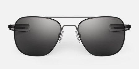 Randolph Engineering Aviator sunglasses - matt chrome/Grey