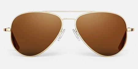 Randolph Engineering Concorde sunglasses - Gold/Tan
