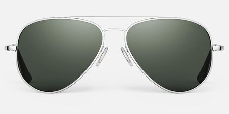 Randolph Engineering Concorde Polarised sunglasses - Bright chrome/dark green
