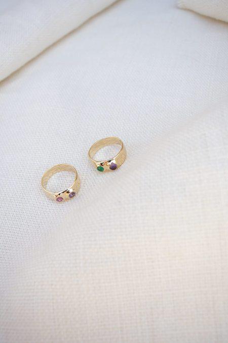 Mondo Mondo Felt Ring Divine - Emerald/Amethyst