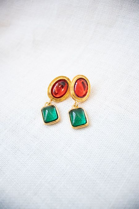 Mondo Mondo Jelly Earrings - Ruby/Emerald