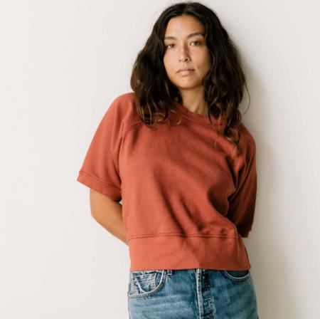 Imogene + Willie Layla Short Sleeve Sweatshirt - Faded Fire