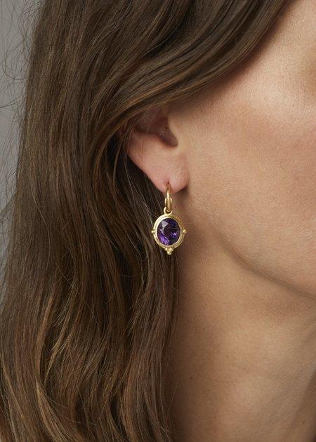 Tony Malmed Jewelry Earrings - 18k gold/9.35 cts Amethyst
