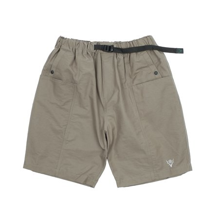South2 West8 BELTED CENTER SEAM SHORTS - TAUPE