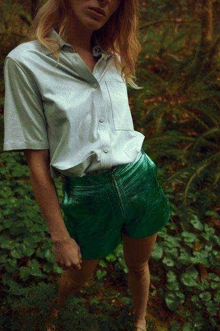 alyson eastman Rosette Shorts - Emerald