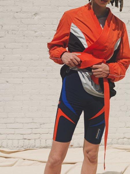 Martine Rose Paneled Biker Trebor Short - Blue/Orange