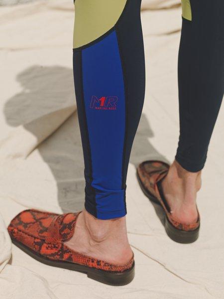 Martine Rose Marley Biker Leggings - Blue/Lime/Red