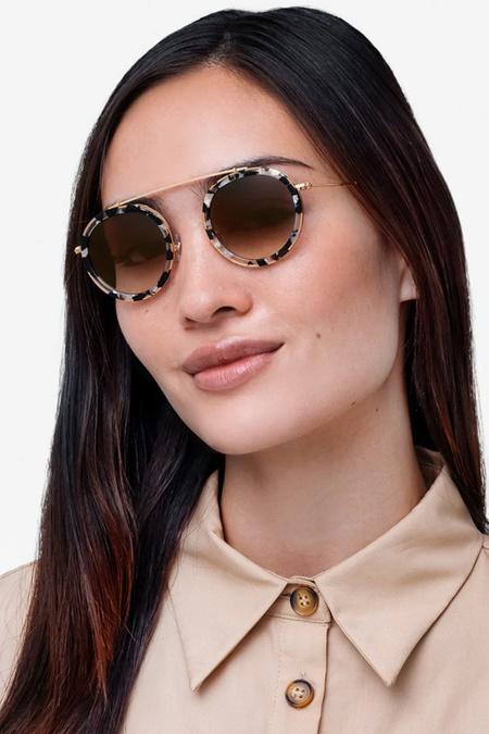 Krewe Conti sunglasses - Gold/Tortoise/Amber