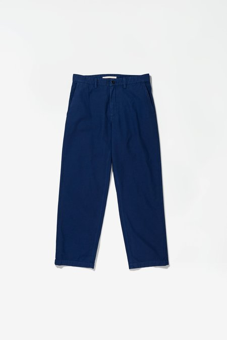 Norse Projects x GM Lukas Backsatin Chino - Hydrone Blue