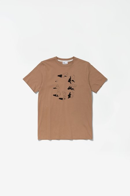 Norse Projects x GM Niels Circle Logo T-Shirt - Dark Khaki