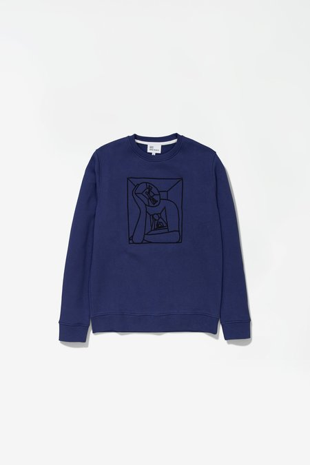 Norse Projects X Gm Vagn Boredom Logo Sweatshirt - Hydrone Blue