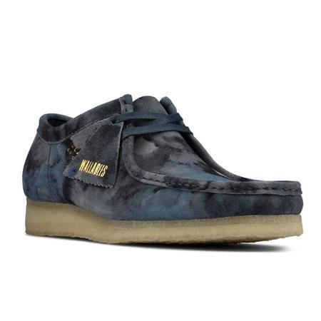 Clarks Wallabee shoes - Blue Camo
