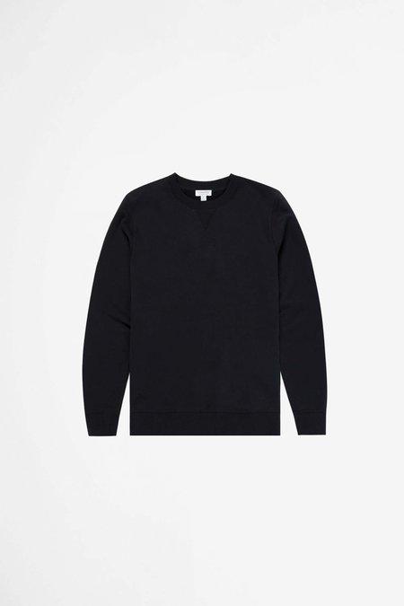 Sunspel Cotton Loopback Sweatshirt - Black