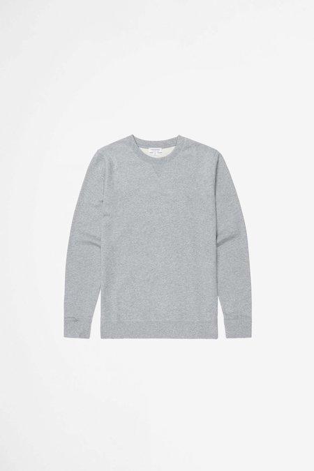 Sunspel Cotton Loopback Sweatshirt - Grey Melange