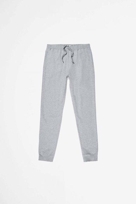 Sunspel Cotton Loopback Track Pant - Grey Melange