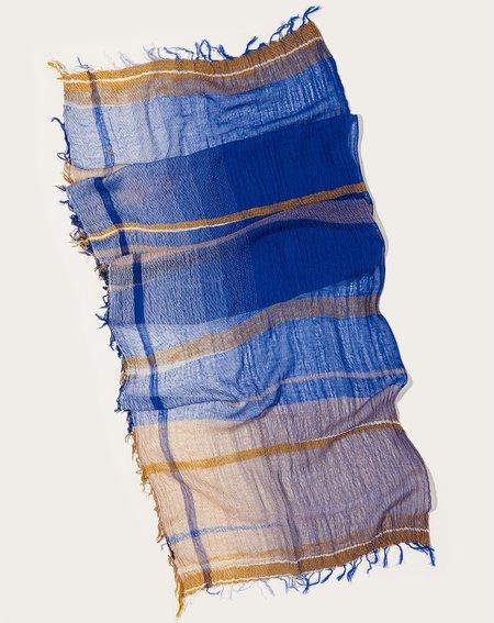 Tamaki Niime Middle Roots Shawl - Cobalt