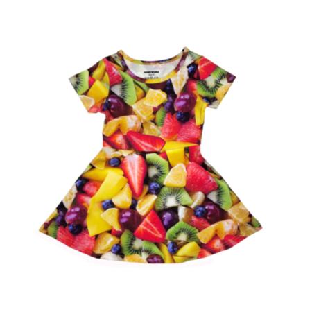 kids Romey Loves Lulu Fruit Salad Skater Dress - multi