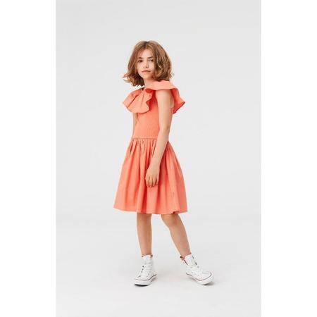 kids molo christal dress - burnt coral