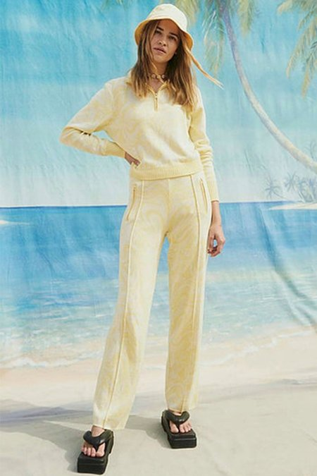 House Of Sunny Bay Tracksuit Pant - Blonde