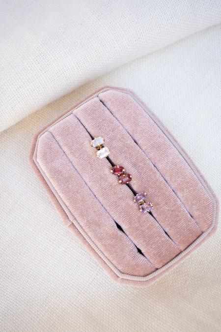 Mondo Mondo Guinevere 14K Stud Earring - Ruby