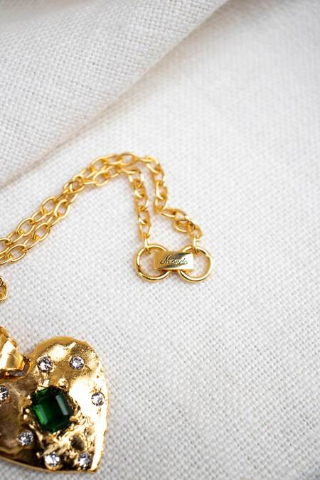 Mondo Mondo Super Heart Necklace - Emerald