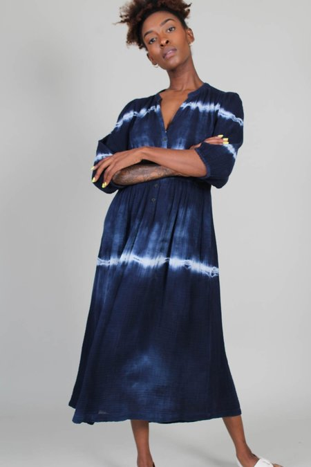 Raquel Allegra Sia Dress - Indigo Tie Dye