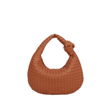 Melie Bianco Drew Saddle Small Shoulder Bag - Tan