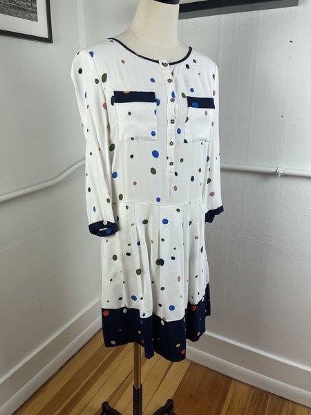 pre-loved Ted Baker Dot Dress - white multi