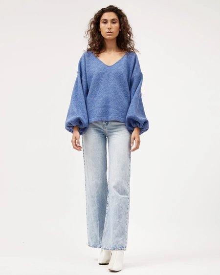Dominique Healy Minka Jumper SWEATER - Blue Boiled Wool