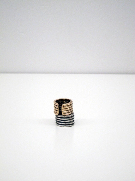 Unisex Kat Seale Ribbed Ring - Sterling Silver