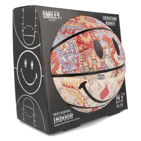 Chinatown Market Smiley Patchwork Rug Basketball - Multi