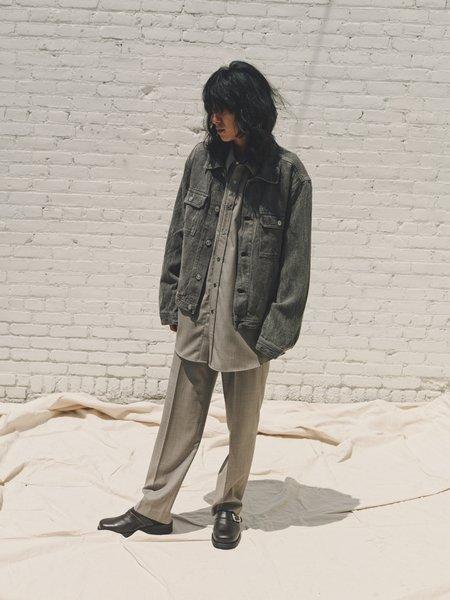 Our Legacy Coated Linen Denim Mono Jacket - Grey