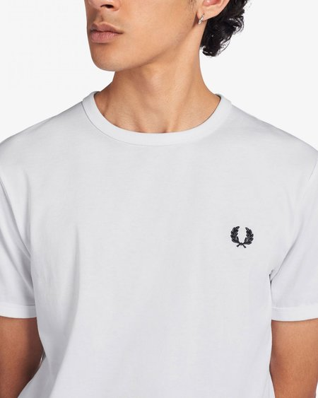 FRED PERRY Ringer M3519 TOP - White