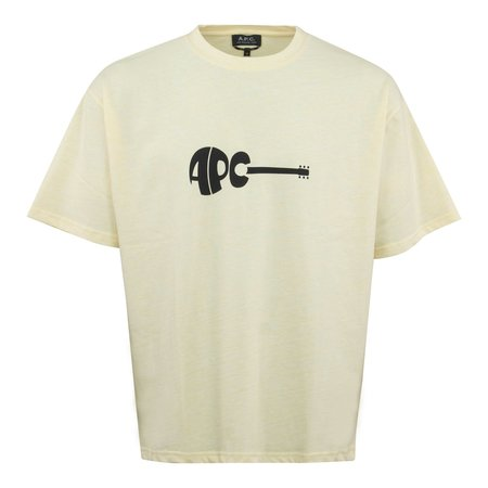 A.P.C. Mael China Guitar Logo T-Shirt - Yellow