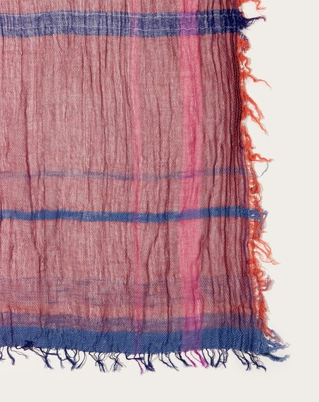 Tamaki Niime Middle Roots Shawl - Dusty Pink