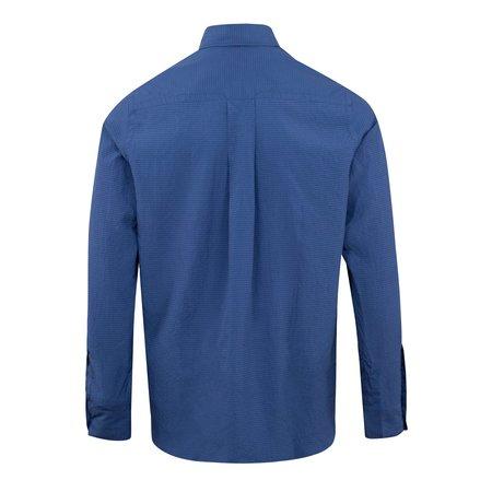 Kenzo Tiger Crest Seersucker Shirt - Navy