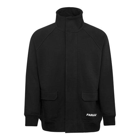 Parlez Carter Jersey Zip Through Sweatshirt - Black