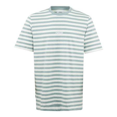 Parlez Ladsun Heavy Stripe T-Shirt - Sage green